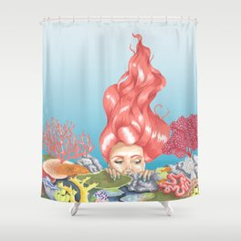 Living Coral Reef Shower Curtain