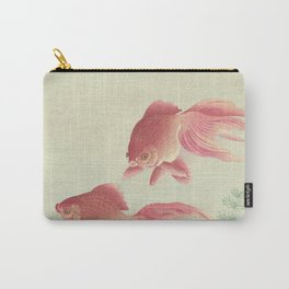 Two veiltail goldfish - Ohara Koson (1900 - 1936) Carry-All Pouch