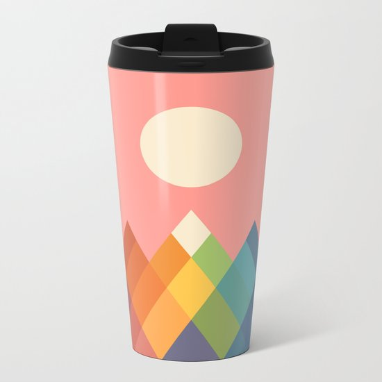 Rainbow Peak Metal Travel Mug