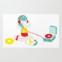 vinyl Area & Throw Rugs featuring Vinyl by Samantha Eynon