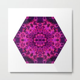 Jellyfish Kaleidoscope Metal Print