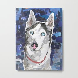 Mallee The Husky Metal Print