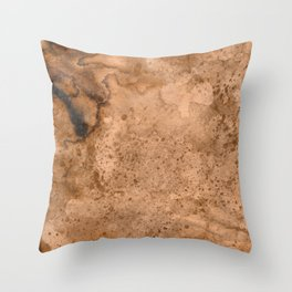 Acrylic Coffee Stained Paper Throw Pillow