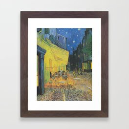 Cafe Terrace at Night by Vincent van Gogh Framed Art Print