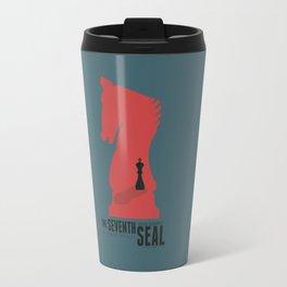The Seventh Seal - Classic Bergman Movie Poster Travel Mug