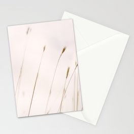 Tall grass against cloudy sky Stationery Cards