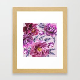 Purple Blossoms Framed Art Print