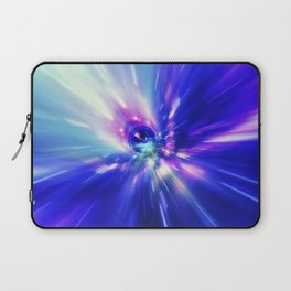 Interstellar, time travel and hyper jump in space. Flying through wormhole tunnel or abstract energy Laptop Sleeve