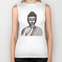buddha Biker Tanks featuring BUDDHA by Vanya