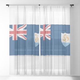 Flag of Anguilla. The slit in the paper with shadows. Sheer Curtain