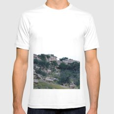 enchanted rock  MEDIUM White Mens Fitted Tee