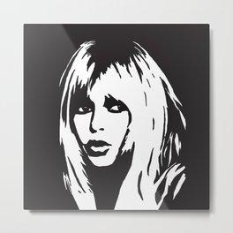 Brigitte Bardot black & white portrait.  Metal Print