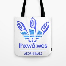 Aboriginal- Blue Eyed Grass Tote Bag