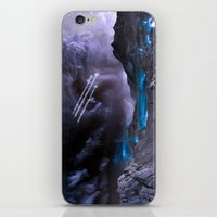 planet iPhone & iPod Skins featuring Extraterrestrial Landscape : Galaxy Planet by 2sweet4words Designs