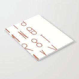 Unique Swees font alphabet Notebook