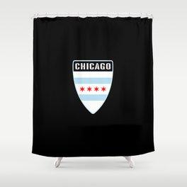 Chicago Shield Shower Curtain