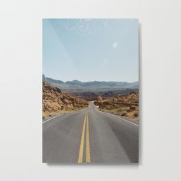 On the Desert Road Metal Print