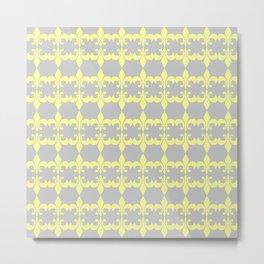 Multiple Fleur Yellow Metal Print