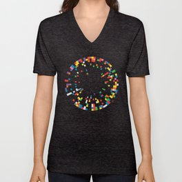 Rainbow Data Unisex V-Neck