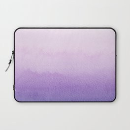 Purple Watercolor Design Laptop Sleeve