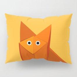 Geometric Cute Origami Fox Portrait Pillow Sham