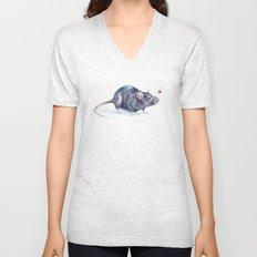 Rat love Unisex V-Neck
