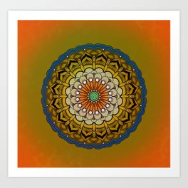 Round Colorful Design Art Print