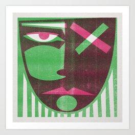 Two tone mask Art Print
