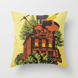OLD TIMEY DARKNESS Throw Pillow