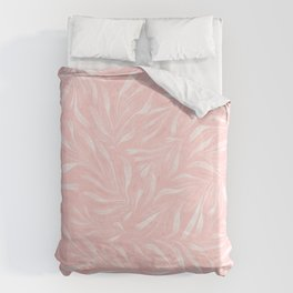 Pink Foliage III Duvet Cover