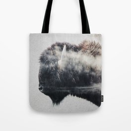Wild West Bison Tote Bag