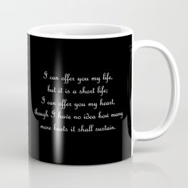 I offer you my life - Jem Carstairs BLACK Coffee Mug