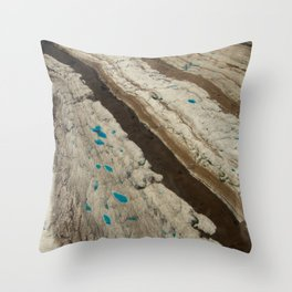 ALASKA III: Ruth Glacier Textures Throw Pillow