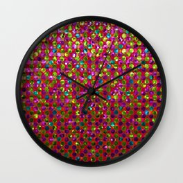 Polka Dot Sparkley Strass G266 Wall Clock