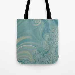 Soft Green Fractal 2 - Abstract Art by Fluid Nature Tote Bag