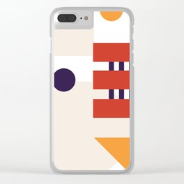 MidMod Shapes (series 3) Orange Clear iPhone Case