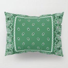 Classic Green Bandana Pillow Sham