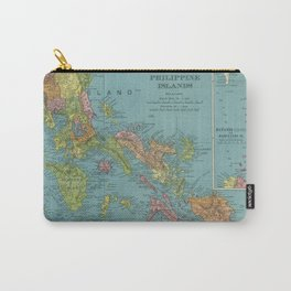 Vintage Map of The Phillipines (1903) Carry-All Pouch