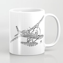 Flying Floating Lines Coffee Mug