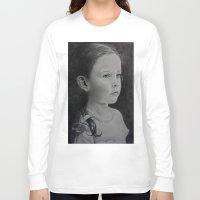 percy jackson Long Sleeve T-shirts featuring Paris Jackson by Brooke Shane