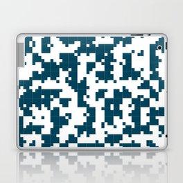 Small Pixel Big Pixel - Geometric Pattern in Dark Blue Laptop & iPad Skin