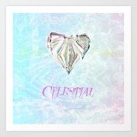 celestial Art Prints featuring Celestial by Peta Herbert