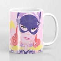 batgirl Mugs featuring Batgirl 60 by Joshua A. Biron