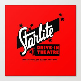Starlite Drive In Red Canvas Print