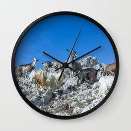 Climbing on the top of Redentore Mountain Wall Clock