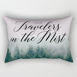 Travelers in the Mist Rectangular Pillow