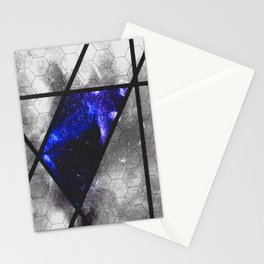 blue trapezoid Stationery Cards