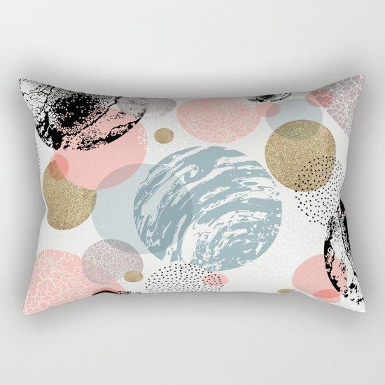 Circles texture Rectangular Pillow