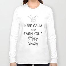 Earn Your Happy Ending [Black] Long Sleeve T-shirt