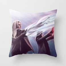 The Savior and the Evil Queen Throw Pillow